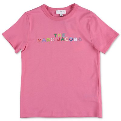 Little Marc Jacobs t-shirt rosa in jersey di cotone organico