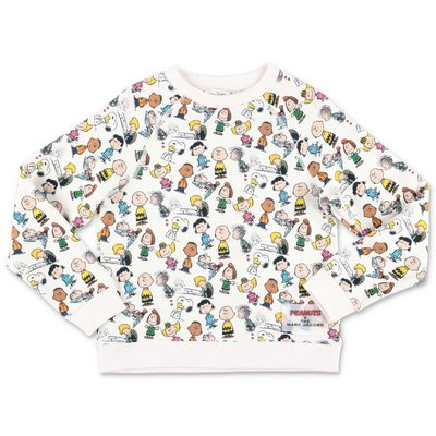 Little Marc Jacobs Peanuts white cotton sweatshirt