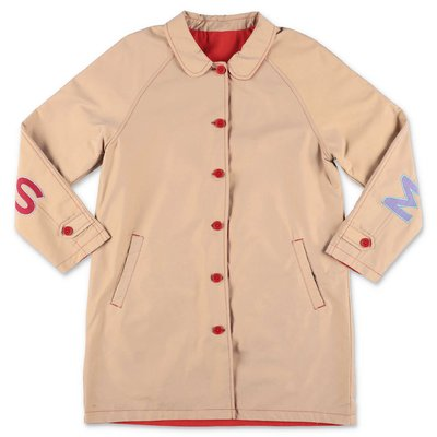 Little Marc Jacobs trench reversibile in tela di cotone