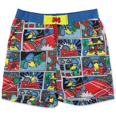 Little Marc Jacobs costume shorts da mare stampati in nylon