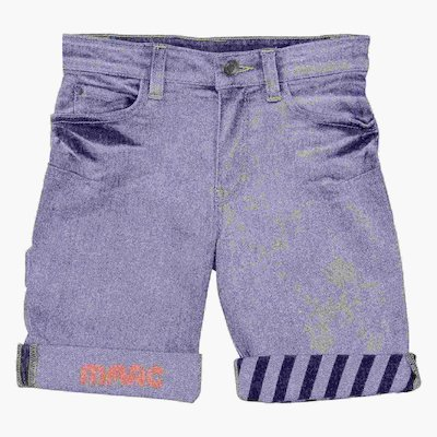 Stretch denim cotton shorts