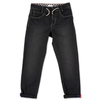 Little Marc Jacobs jeans neri in denim di cotone stretch