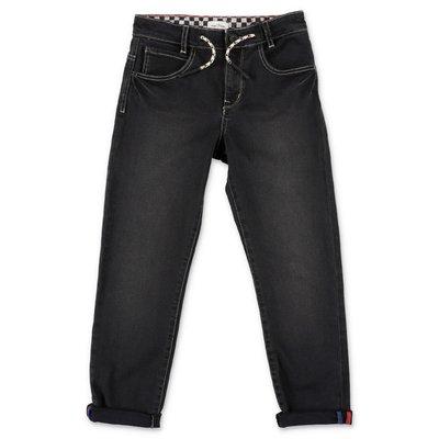 Little Marc Jacobs jeans neri in denim di cotone stretch