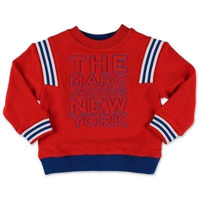Little Marc Jacobs felpa rossa in cotone con logo