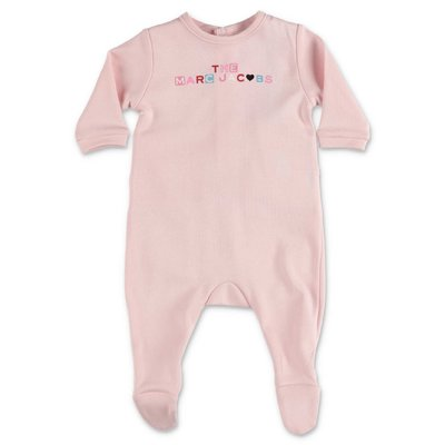 Little Marc Jacobs pink cotton jersey romper