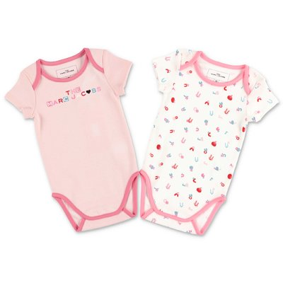 Little Marc Jacobs set con due body in jersey di cotone