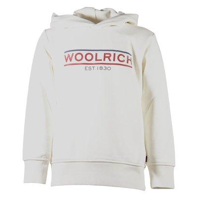 White logo detail sweatshirt hoodie