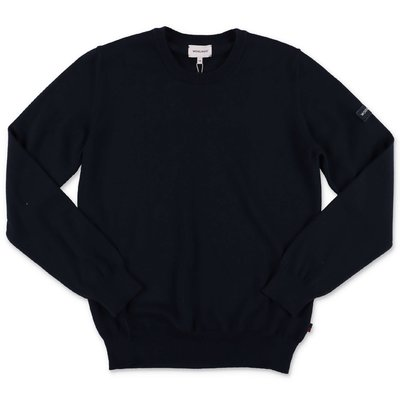 Woolrich deep blue knit cotton & wool jumper