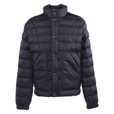 Navy blue nylon ultra-lightweight down jacket