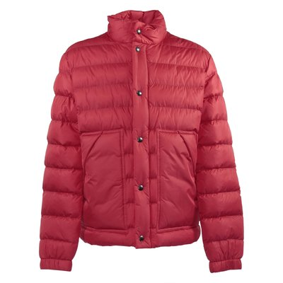 Red nylon ultra-lightweight down jacket