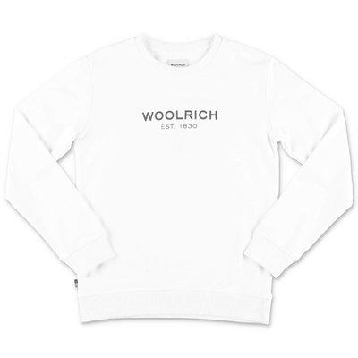 Woolrich felpa bianca in cotone