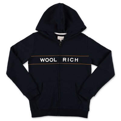 Woolrich navy blue cotton hoodie