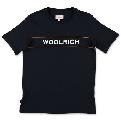 Woolrich dark blue cotton jersey t-shirt