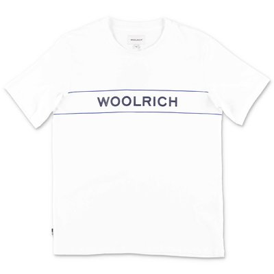 Woolrich white cotton jersey t-shirt