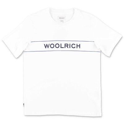 Woolrich t-shirt bianca in jersey di cotone