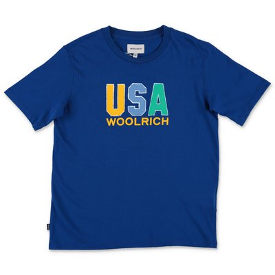 Woolrich blue cotton jersey t-shirt