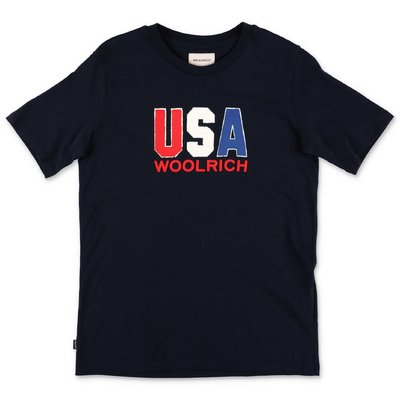 Woolrich navy blue cotton jersey t-shirt