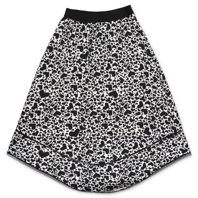 Zadig & Voltaire black & white printed viscose skirt
