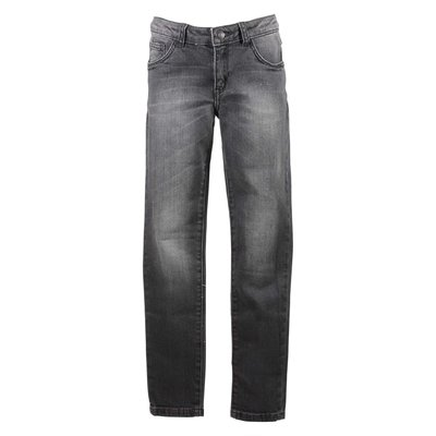 Black stretch denim cotton vintage effect pants
