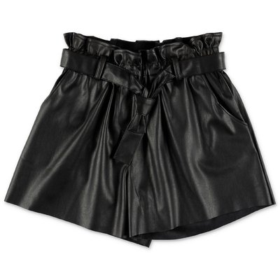 Zadig & Voltaire black faux leather shorts