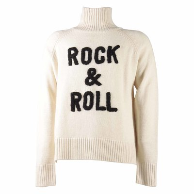Beige wool & cashmere knit jumper