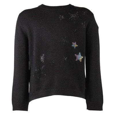 Black wool & cashmere knit jumper