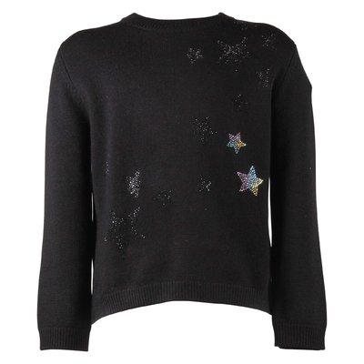 Black wool & cashmere knit jumper