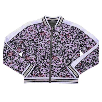 Reversible viscose bomber jacket