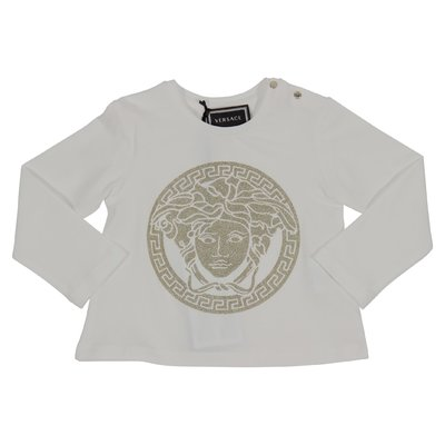 White Medusa print cotton jersey t-shirt