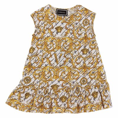Young Versace baroque print cotton jersey dress