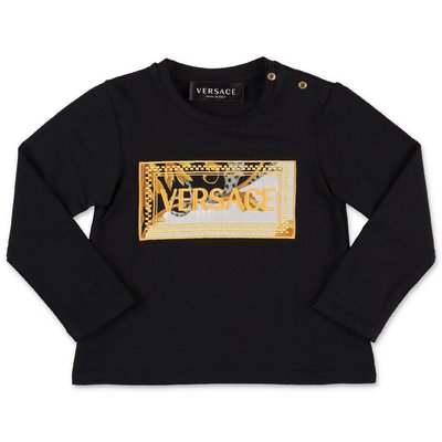 Young Versace black cotton jersey t-shirt