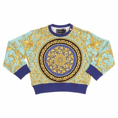 Fluorescent baroque cotton sweatshirt