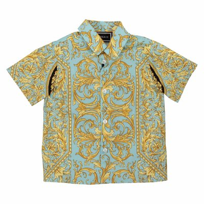 Fluorescent baroque cotton poplin shirt