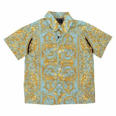Camicia fluo barocco in popeline di cotone