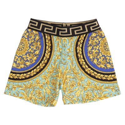 Fluorescent baroque stretch cotton shorts