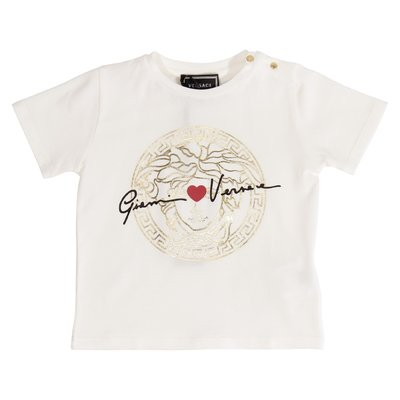 White GV signature cotton jersey Medusa t-shirt