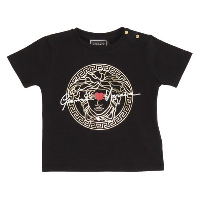 Black GV signature cotton jersey Medusa t-shirt