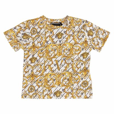 Baroque print cotton jersey t-shirt