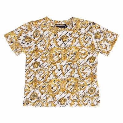 Baroque print cotton jersey t-shirt