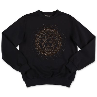 Young Versace Iconic Medusa black cotton sweatshirt