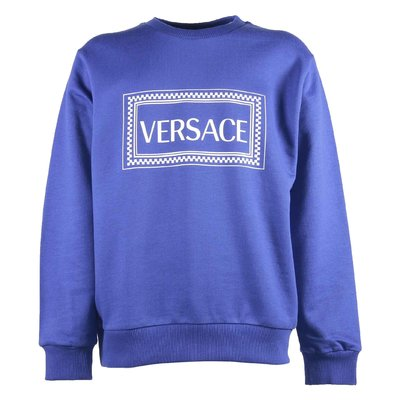 The Clans of Versace royal blue cotton sweatshirt