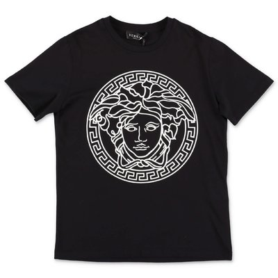 Young Versace Medusa black cotton t-shirt