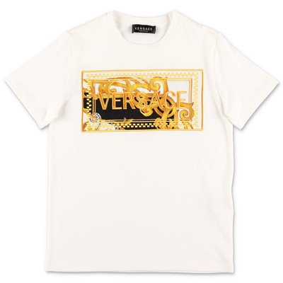 Young Versace white cotton jersey t-shirt