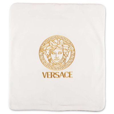 Young Versace white cotton blanket