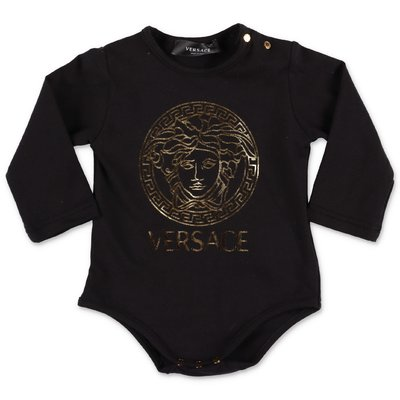 Young Versace Medusa black cotton jersey body
