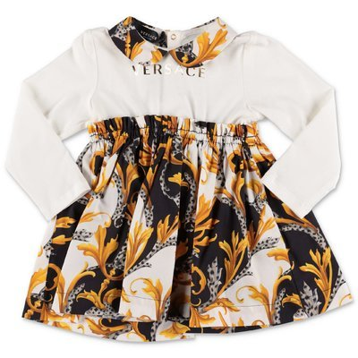 Young Versace baroque print cotton dress & coulottes