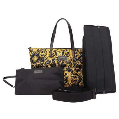 Young Versace baroque print nylon changing bag