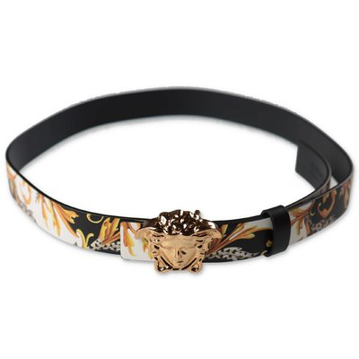 Young Versace calf reversible belt