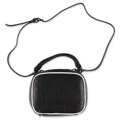 Karl Lagerfeld black faux leather bag