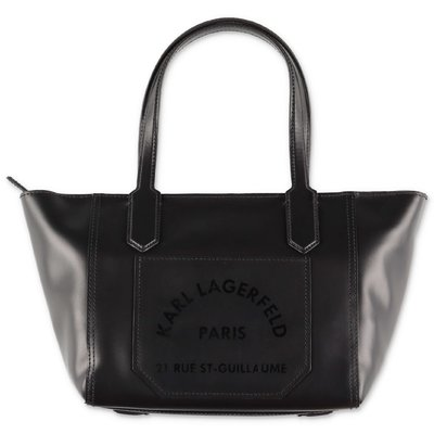 Karl Lagerfeld black leather bag